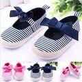 Niñas Bebés niño Raya Suave Bowknot Zapatos de Bebé Ocasionales Para la Edad 3-12 M