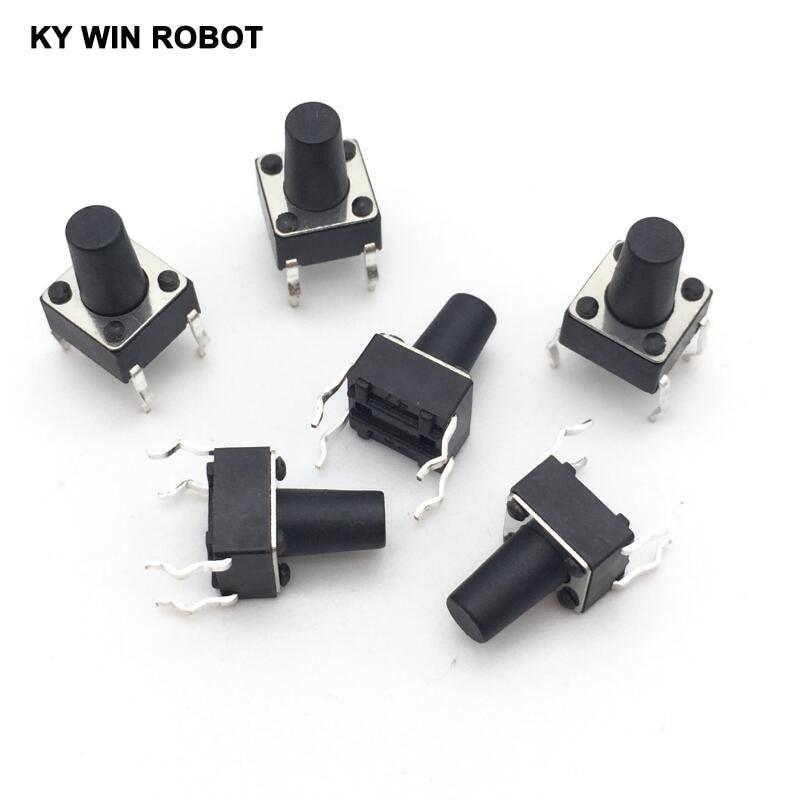 Бесплатная доставка, 50 шт./лот, 6*6*9 мм, Тактильный кнопочный переключатель 6x6x9 мм, 4-контактный сенсорный выключатель