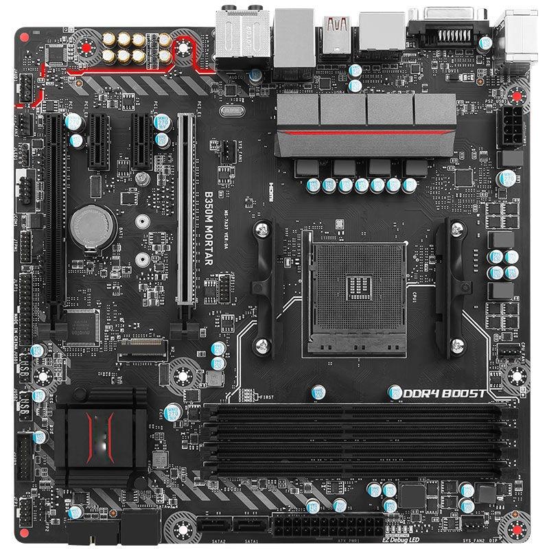 B350M MORTAR AM4 Desktop Games Computer RGB Vibrant Motherboard