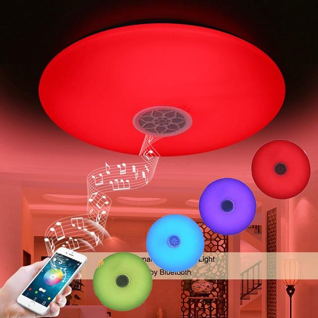 RGBW Musik Smart Led deckenleuchte Dimmbar Bluetooth Moderne Zuhause ...