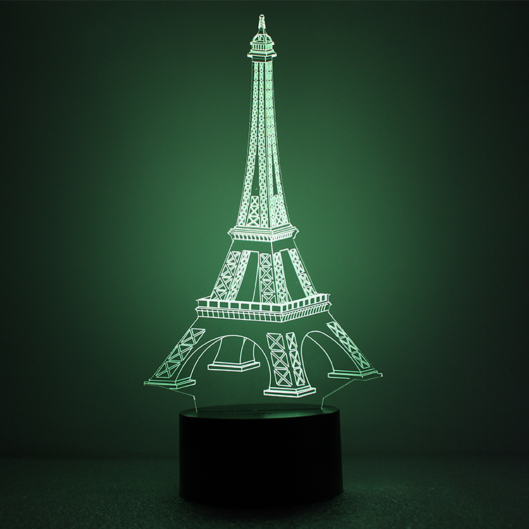 3D Illusion Eiffel Tower Table Decorations LED Desk Lamp As Gift Free  Shipping In LED Night Lights From Lights U0026 Lighting On Aliexpress.com |  Alibaba Group