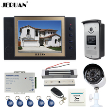 JERUAN 8 inch Video Door Phone Record intercom System kit RFID Access IR Camera +Metal 700TVL Analog Camera+180KG Magnetic lock