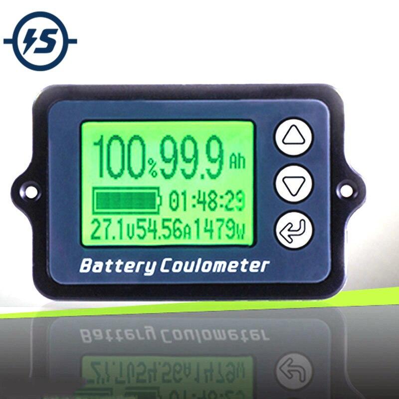 80 V Tk15 Coulomb Meter Indicatore Della Capacità Della Batteria Coulometer Livello Di Potenza Display Fosfato Del Ferro Del Litio Tester Wire Sensore Di 50a