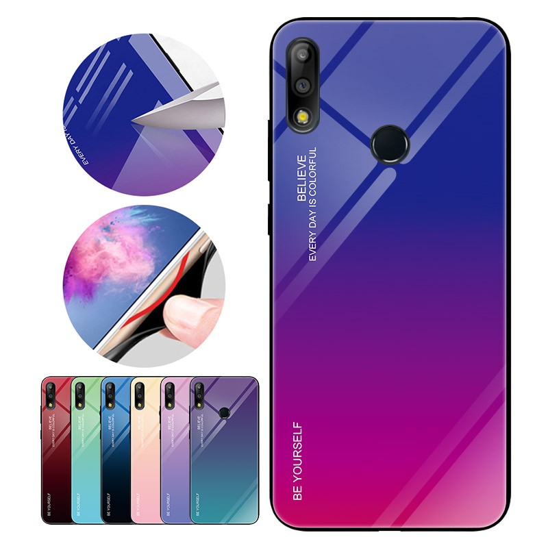 Gradient Tempered Glass Case For Asus Zenfone Max (M2) ZB633KL For Asus Zenfone Max Pro (M2) ZB631KL Max Pro (M1) ZB601KL ZB602K image
