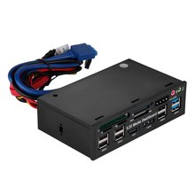 "GTFS-Multifuncion 5.25 ""Media Dashboard Lector de Tarjetas USB 2.0 USB 3.0 20 pin SATA e-sata Frente Panel"