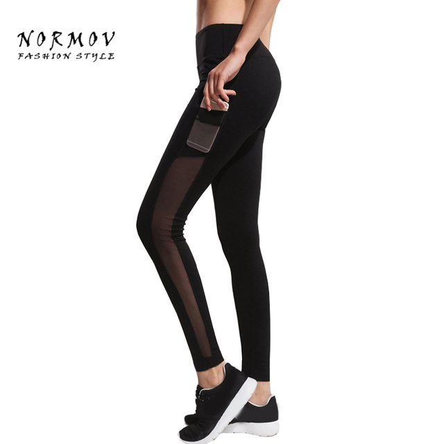 S-XL Women's Leggings Fashion Black Prokect Net Yarn Splicing Jeggings Leggings Patchwork Sportswear Workout Leggings Women