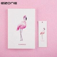 EZONE Nouveau Style Frais Portable Imprimé Kawaii Flamingo Note Réserver Étudiants Bloc-Notes Cadeau Voyageur Jounery Journal École Papeterie