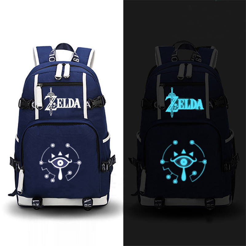 High Quality 2017 Game The Legend Of Zelda: Breath Of The Wild Printing Zelda Backpack Canvas School Bags Travel Laptop Backpack #6
