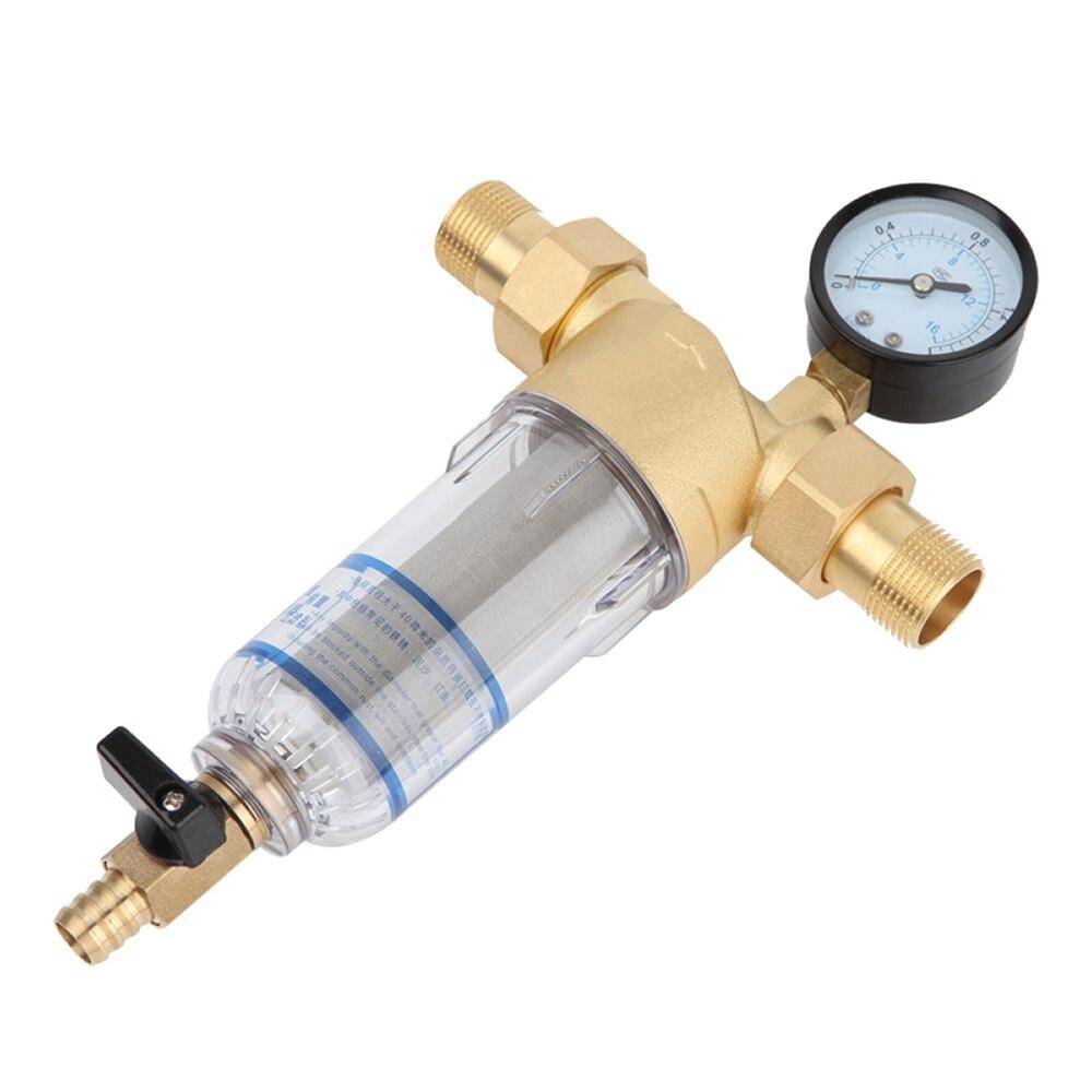 Новый 3/4 дюймов 1/2 дюймов 1 дюймов медный фильтр для воды бытовой дом фильтр для воды Трубы Центральный очиститель воды для удаления накипи