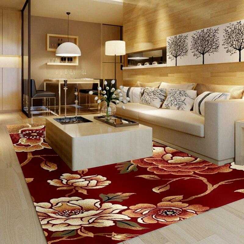 rustic empty living room carpet | 1318r handmade wool blending scissors flower pattern ...