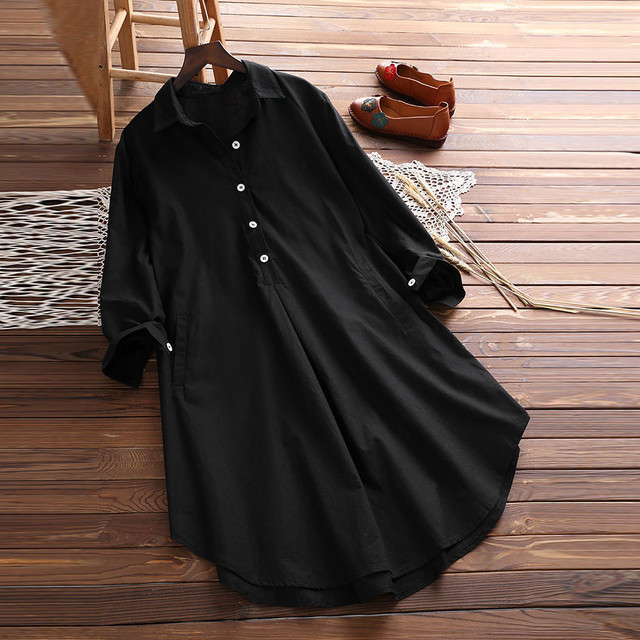 Plus Size 5XL Womens Tops and Long Sleeve Blouses 2018 Streetwear Button V Neck Long Shirts Tunic Ladies Top Womens Clothing 1