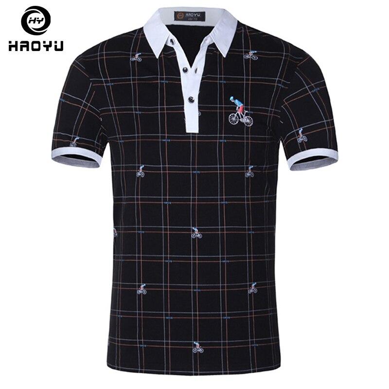 16f95339d Homens camisa polo famosa marca de moda casual de manga curta camisas  masculinas hombre man top de algodão camisa polo plus size em Polo de Dos  homens de ...