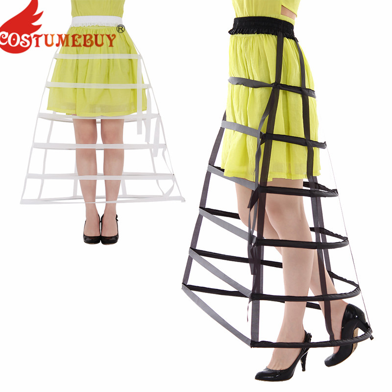 CostumeBuy Women's Rococo Rare Vintage Victorian Gothic Cage 6 Hoops Bird Cage Victorian Dress Skirt Bustle Petticoat Underskirt