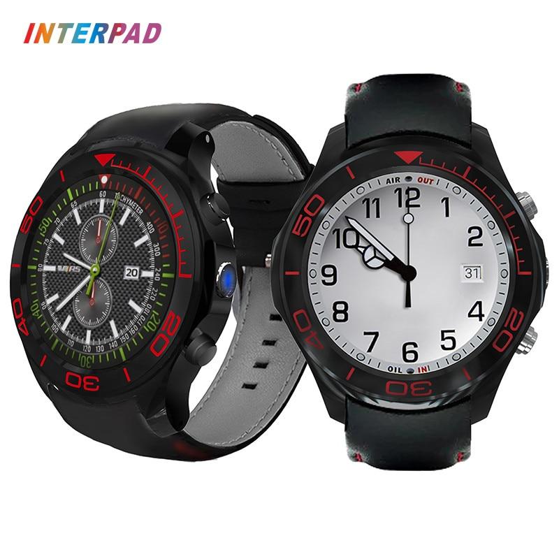 Interpad 3G Phone Clock Smart Watch Men GPS Watch With Heart Rate Monitor Passometer Smart Health Smartwatch Smart Wrist Watch smart baby watch q60s детские часы с gps голубые