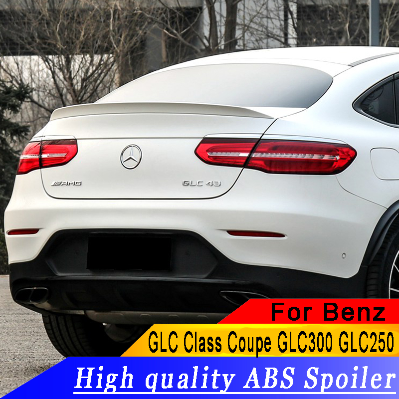 For Mercedes   Benz GLC Class Coupe GLC300 GLC250 2016 2018 High quality ABS spoiler GLC Coupe GLC43 GLC260 Rear wing spoiler-in Spoilers & Wings from Automobiles & Motorcycles    1