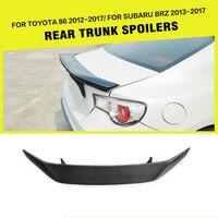 GT86 BRZ Carbon Fiber AB Styling Auto Car Accessories Rear Trunk Wing Lip Spoiler For Subaru