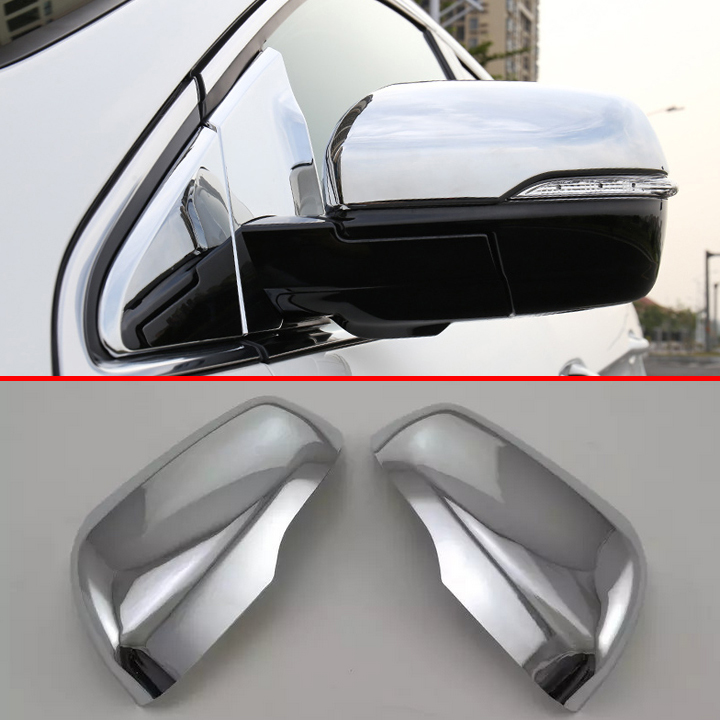 Abs Chrome Side Mirror Cover Trim For Ford Edge 2016 2017