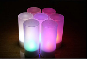 Image 5 - 12 teile/satz Fernsteuerungs Wiederaufladbare Teelicht Led kerzen matt Flammenlose Teelicht multi farbwechsel kerzenlampe Party
