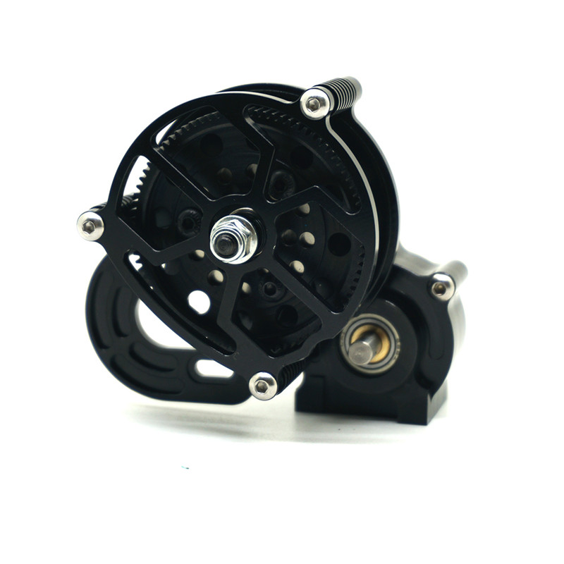 1PC Black 1/10 RC Crawler SCX10 All Metal Transmission / Center Gearbox for 1/10 Axial SCX10 Gear Box Reverse Parts 1pc black 1 10 rc crawler scx10 metal aluminum transmission center gearbox for 1 10 axial scx10 gear box