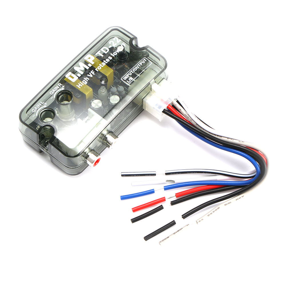 Car Electronics Accessories Active 12v Td-22 Auto Car Audio Converter Rca Stereo High To Low Frequency Line Speaker Level Converter Adapter