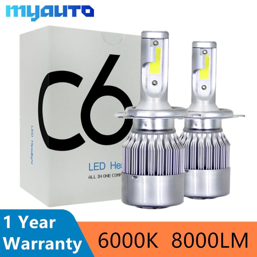 Car Headlight Bulbs(led) Carlits Car Headlights H7 H11 Csp Led H4 Hb2 H1 9005 Hb3 9006 Hb4 60w 9600lm Auto Front Led Lighting Replacement Bulb 6000k
