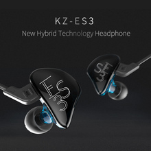 2017 New KZ ES3 DD+BA Hybrid Dynamic And Balanced Armature Earphone HIFI Stereo Sport Suitable Bluetooth Headset 100% Original
