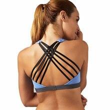CALOFE Women Sexy Yoga Sports Bra running Shirt with Padding Push Up Quick Dry Tank Gym Bra Tops Bandage Fitness Gym Bras