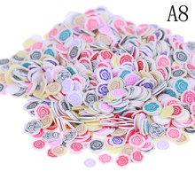 1000Pcs Soft Plasticine Addition Ceramic Fruit Mixed Fruit Leaves DIY Clear Slime Clay Nail Jewelry Mobile Slime Diy Supplies(China)