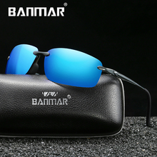 BANMAR New Design Aluminum Magnesium Sunglasses Men Polarized Square Driving Sun Glasses Male Eyewear Accessories For Men Women banmar aluminum magnesium men sunglasses polarized sports driving goggles sunglass fishing uv400 square sun glasses for men