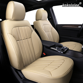 kokololee make Custom Leather car seat cover For Dodge Caliber Avenger Journey challenger Automobiles Seat Covers car seats