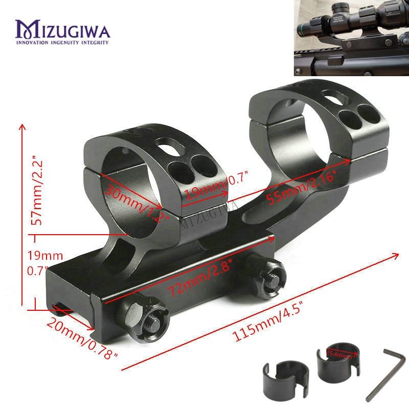 MIZUGIWA Tactical Heavy Duty Cantilever Scope Mount 25.4mm 1
