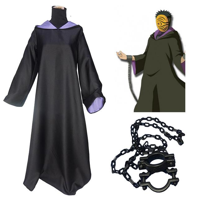 Naruto Shippuden Tobi Cosplay Costume with Chains