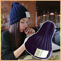 Winter Hat Mask Hats 2016 Rihanna's Style Thicken Patch Label Hot Sale Cute Casual Adult Solid Beanie High Quality Free Shipping