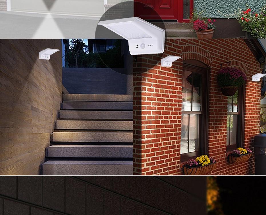 4 PCS 20 Luzes LED Solar Sensor