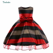 2018 New Summer Princess Girls Bow Party Dresses O Neck Sleeveless Ball Gown Dress Kids Children Clothing Hot Sale 3-10 Years girls dress striped sleeveless ruffles kids dresses o neck tops tank children clothes summer 2018 size 9 10 11 12 13 14 years
