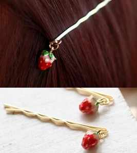 Korean Version Of The New Cute Cat Cherry Animals Fox Rabbit Pendant Side Folder Bangs Clip Hairpin Girls Jewelry Wholesale