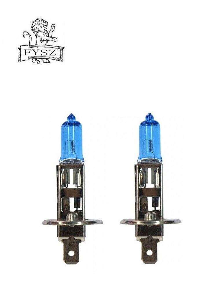 2Pcs H1 12v 55w 5000 6500k Car Halogen headlamp bulb White Light Bulbs Halogen Crystal Light in Car Headlight Bulbs Halogen from Automobiles Motorcycles