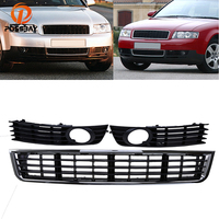1set Left Right Center Auto Front Bumper Lower Grille Fog Light Grill Cover For Audi A4