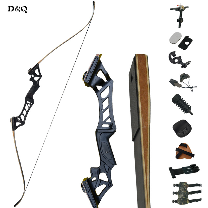 Recurve Takedown Hunting Bow Set 30-60lbs with Accessories for Outdoor Training Shooting Target Archery Longbow Black Camouflage dmar archery quiver recurve bow bag arrow holder black high class portable hunting achery accessories