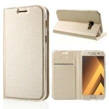 Для Galaxy A3 (2017) Чехол Слот для карты матовый искусственная кожа Стенд телефон аксессуар корпус для Samsung Galaxy A3 (2017)-4.7 дюймов