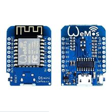 5pcs/lot DIY mall D1 Mini V2 for NodeMcu 4M bytes Lua WIFI IOT Internet of Things Development Board Based ESP8266 for Ard iot starter kit mqtt wifi internet of things programming learning suite with esp8266