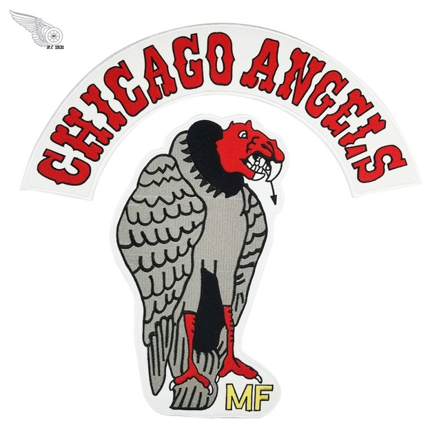 Chicago Angels Motorcycle Patch Embroidery Iron On Clothing