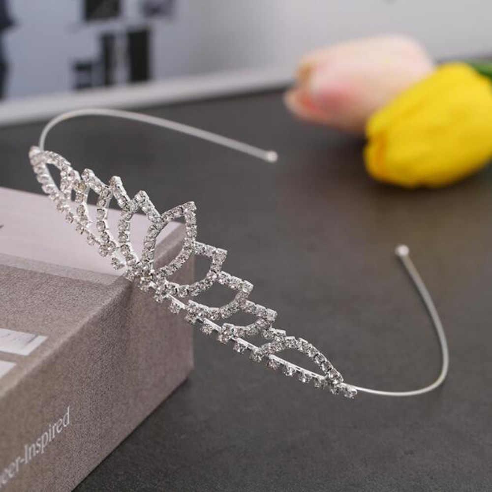 Bonito princesa tiaras de cristal e coroas bandana criança meninas amor nupcial baile de formatura coroa festa de casamento accessiories cabelo jóias