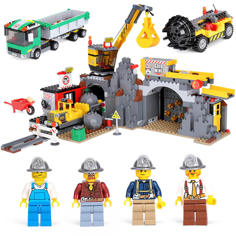 Lepin 02071 Genuine City Series The City Mine Set Compatible legoing 4204 Building Blocks Bricks Educational Toys Funny Gifts