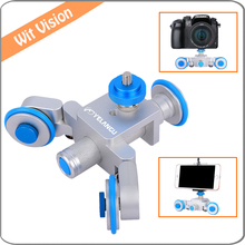 Yelanggu Electrical Autodolly Car Motorized DSLR Dolly Track Slider Skater for iPhone Nikon Canon Camera