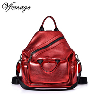 Multifunction Backpack Women Leather Bling Backpack Girls Small Schoolbag Female Bagpack Women Cool Daypack Sac A Dos mochila