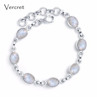 Vercret elegant labradorite turquoise charm bracelets 925 sterling antic silver bracelet for women fine jewelry gift presale