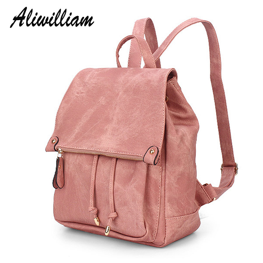 New Vintage Leather Women Backpacks Students Leisure Daypacks Girls Backpack Fashion Style School Bags College Backpack