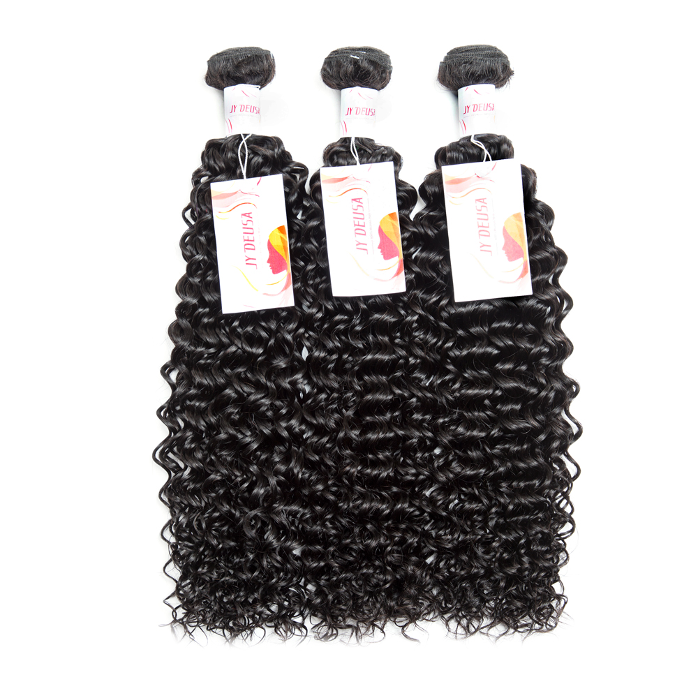Jy Deusa Brazilian Hair Weave Bundles Kinky Curly Hair Bundles Human Hair Bundles Can Buy With Closure Brazilian Virgin Hair