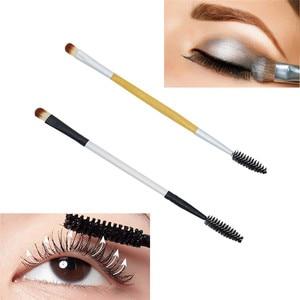 Makeup Brush Double-end Eyeshadow Eyelash Brush Applicator Makeup Cosmetic Tool maquiagem
